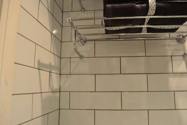towel rail and tiles