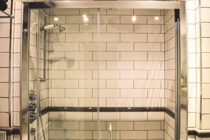 shower enclosure and tiles